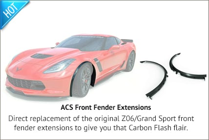 15-19 Grand Sport/Z06 Side Fender Extensions