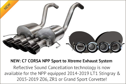C7 CORSA NPP Sport to Xtreme Exhaust Systems