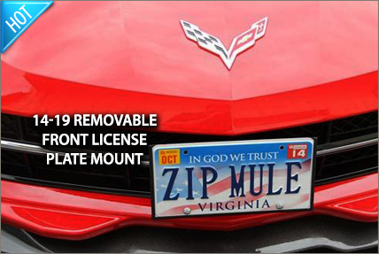 Removable Front License Plate Mounts