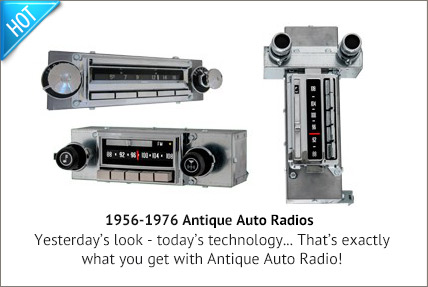 Antique Auto Radio with Bluetooth